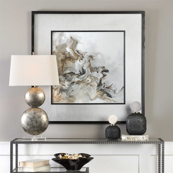 Large Abstract Artwork – Black & Neutrals