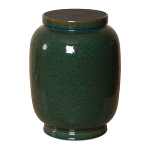 Lantern Garden Stool – Amazon Green Glaze