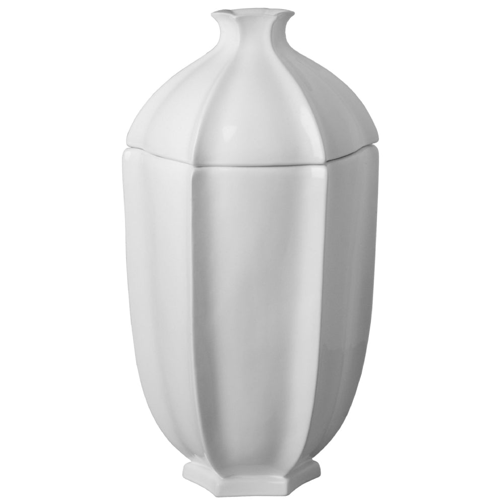 Pomegranate Covered Ceramic Jar  – White
