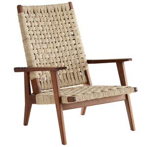 Arteriors Jericho Wood & Jute Reclining Chair