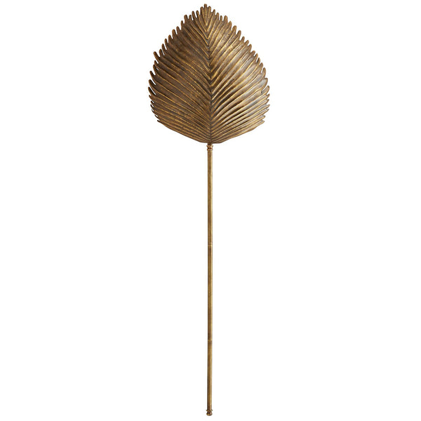Arteriors Myrtle Tropical Leaf Sconce – Antique Brass