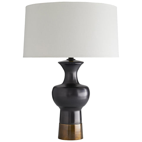 Arteriors Pablo Urn Shaped Table Lamp with Linen Shade