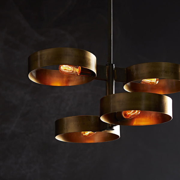 Arteriors Rocco Floating Rings Iron Pendant