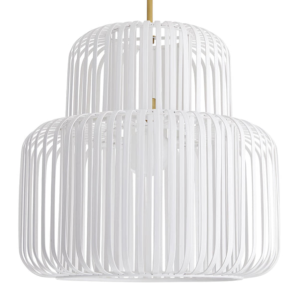 Arteriors Shae 2-Layer Bamboo Cage Pendant