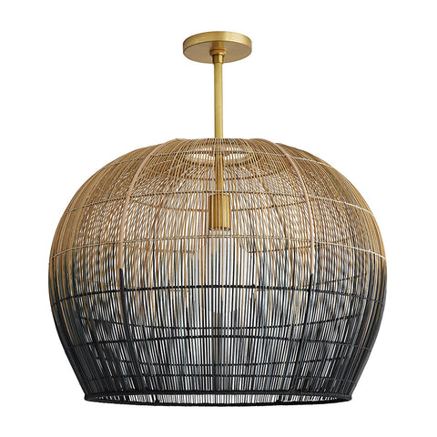 Arteriors Swami Ombre Basket Bell Pendant – Small