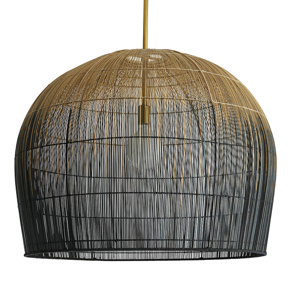 Arteriors Swami Ombre Basket Bell Pendant – Large