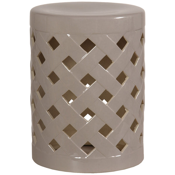 Criss Cross Garden Stool - Grey