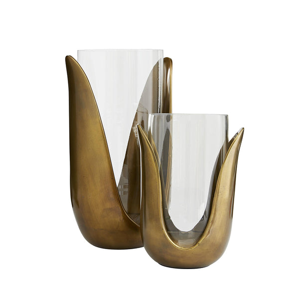 Arteriors Sonia Antique Brass Tulip Vases – Set of 2