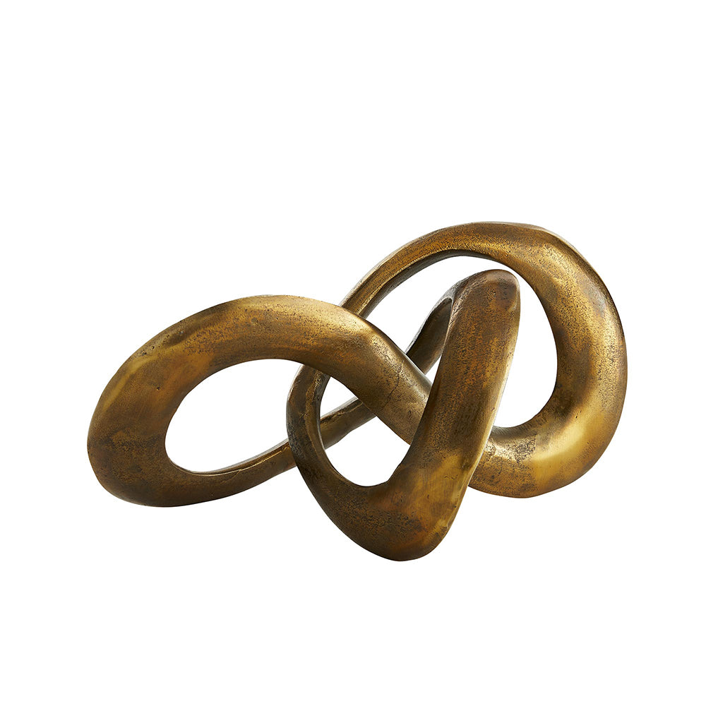 Arteriors Quinn Mobius Loop Abstract Sculpture – Antique Brass