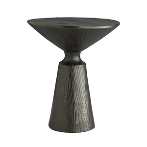 Arteriors Sycamore Faux Bois Tapered Side Table