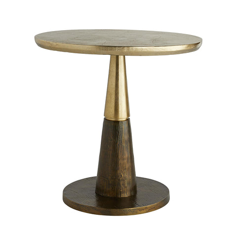 Arteriors Rochester Two-Tone Tapered Side Table – Brown & Gold