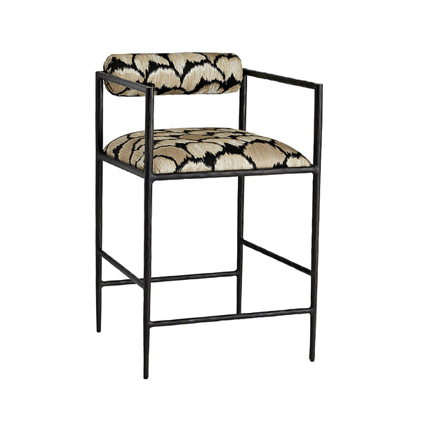 Arteriors Barbana Counter Stool – Ocelot Embroidery