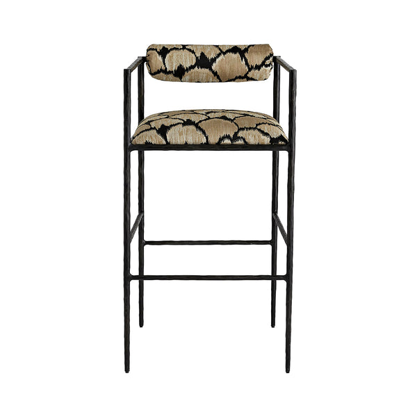 Arteriors Barbana Bar Stool – Ocelot Embroidery