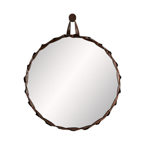 Arteriors Powell Large Braided Leather Edging Mirror