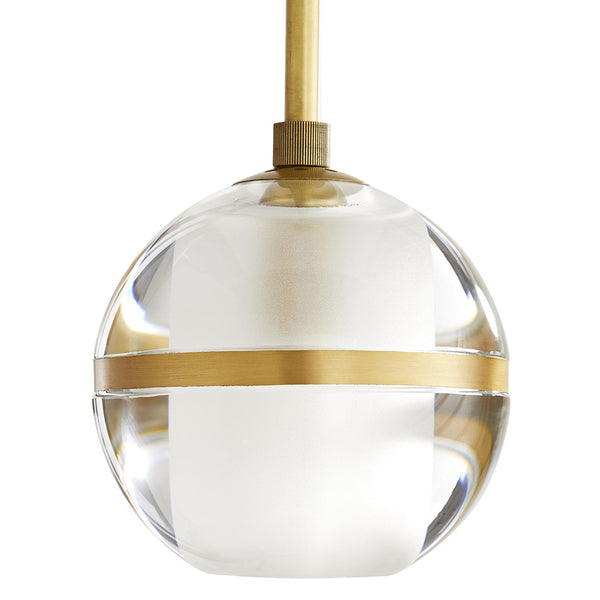 Arteriors Noble Crystal Globe Pendant Light – Antique Brass
