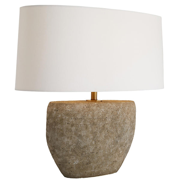 Arteriors Odessa Faux Concrete Table Lamp with Oval Shade