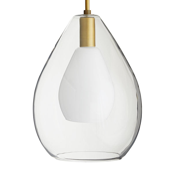Arteriors Nala Nested Glass Teardrops Pendant – Antique Brass