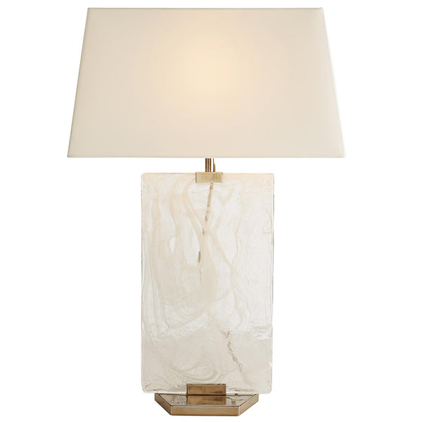 Arteriors Maddox Swirled Glass Plate Table Lamp