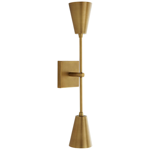 Arteriors Nadia Dual Conical Lamps Sconce – Antique Brass
