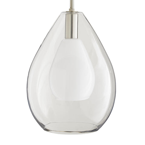 Arteriors Nala Nested Glass Teardrops Pendant – Brushed Nickel