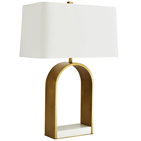 Arteriors Rylan Open Arch Table Lamp with Marble Base