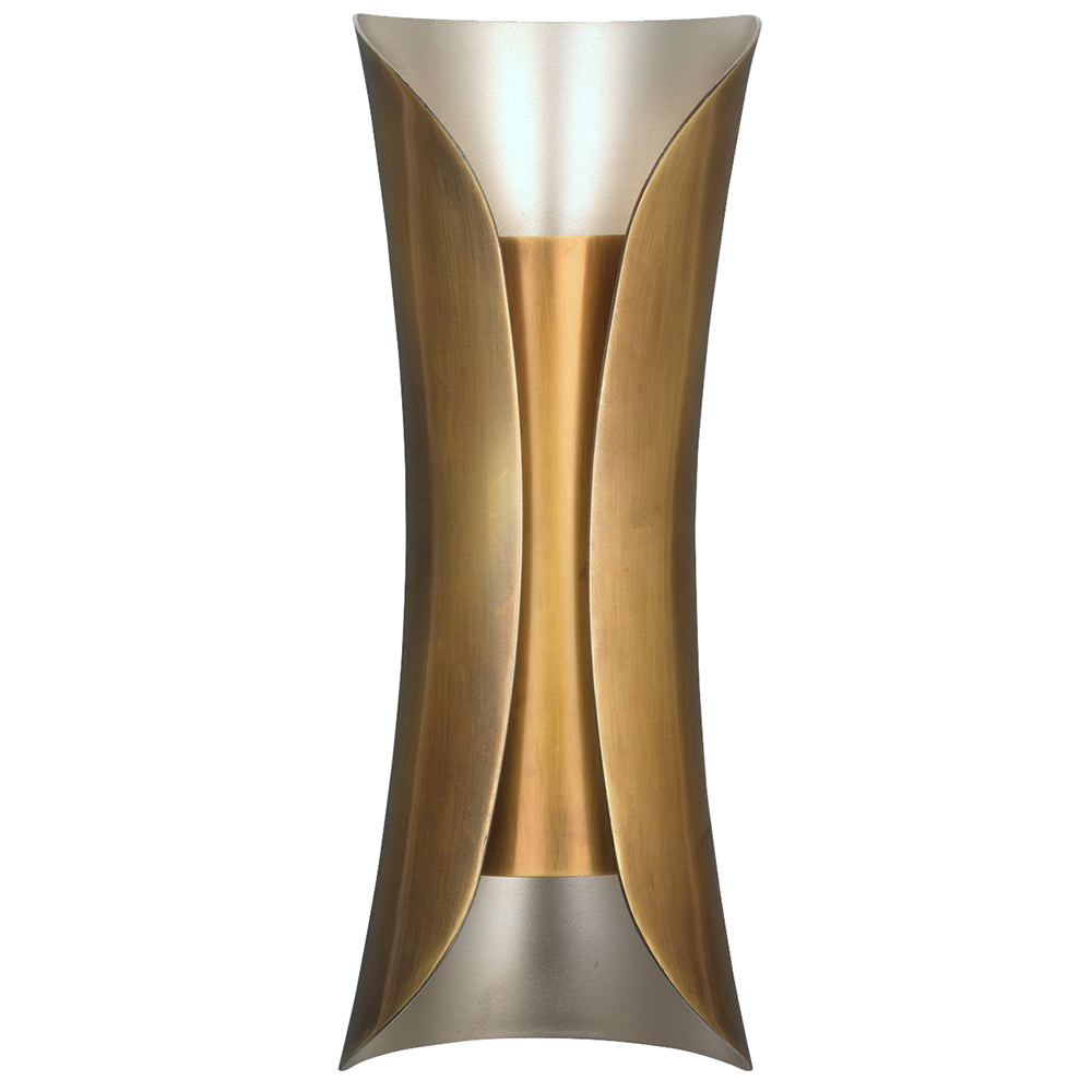 Two-Tone Double Socket Wall Sconce – Brass & Silver