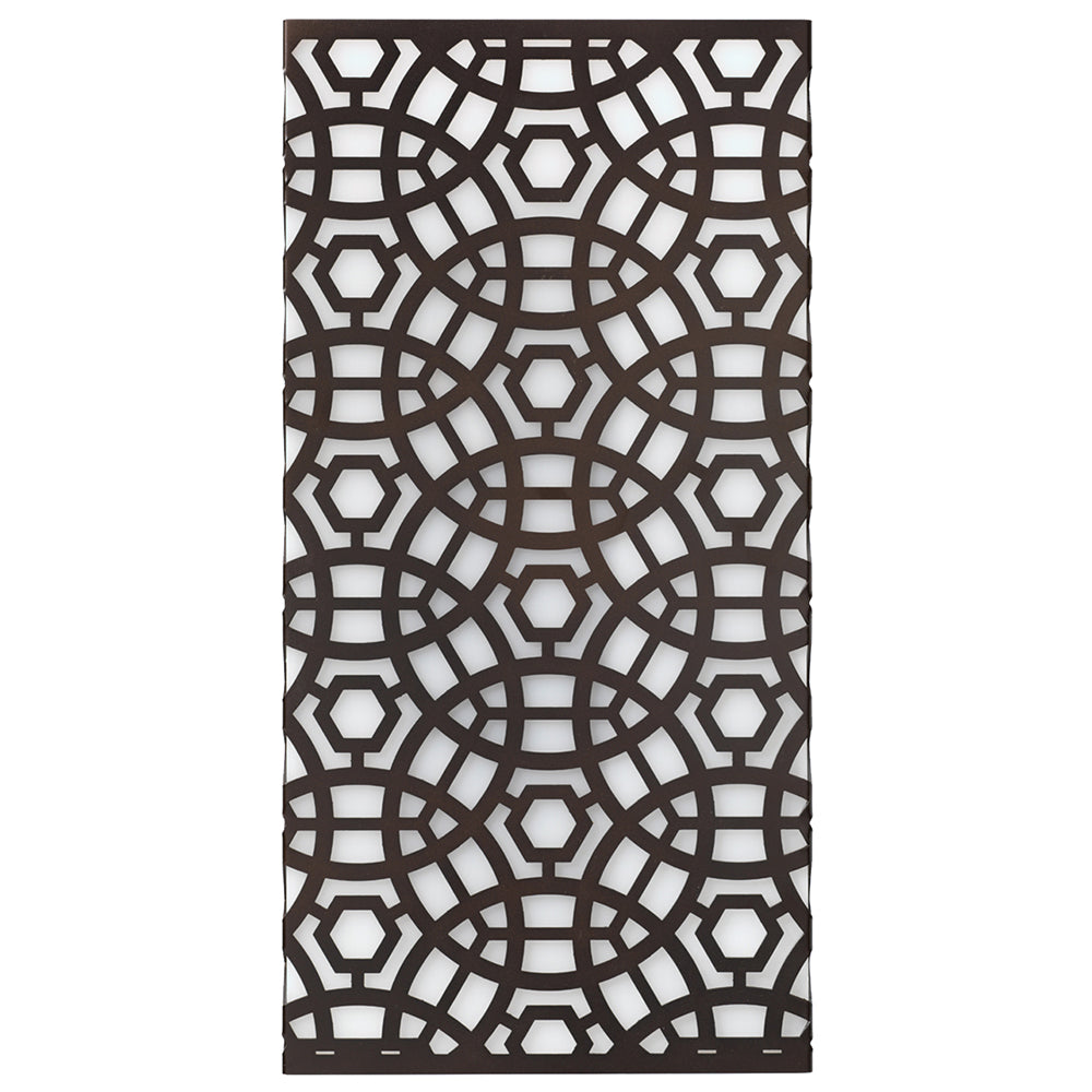 Large Lattice Wall Sconce – Oil Rubbed Bronze