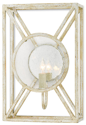 Currey and Company Beckmore Silver Wall Sconce