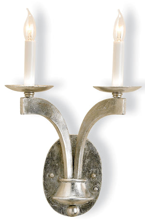 Currey and Company Venus Silver Wall Sconce