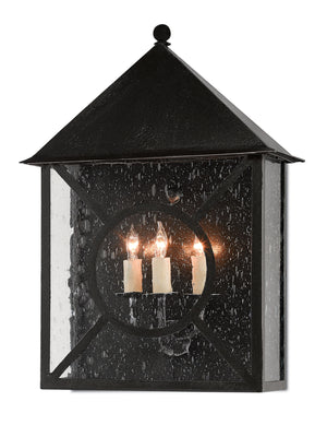 Currey and Company Ripley Large, Medium, Small Outdoor Wall Sconce