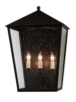 Currey and Company Bening Large, Medium, Small Outdoor Wall Sconce