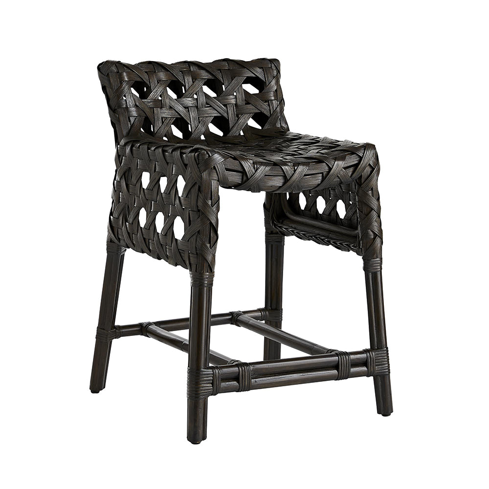 Arteriors Richmond Woven Rattan Counter Stool – Espresso