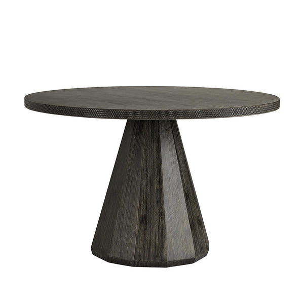 Arteriors Seren Lava Stone Dining Table with Faceted Base