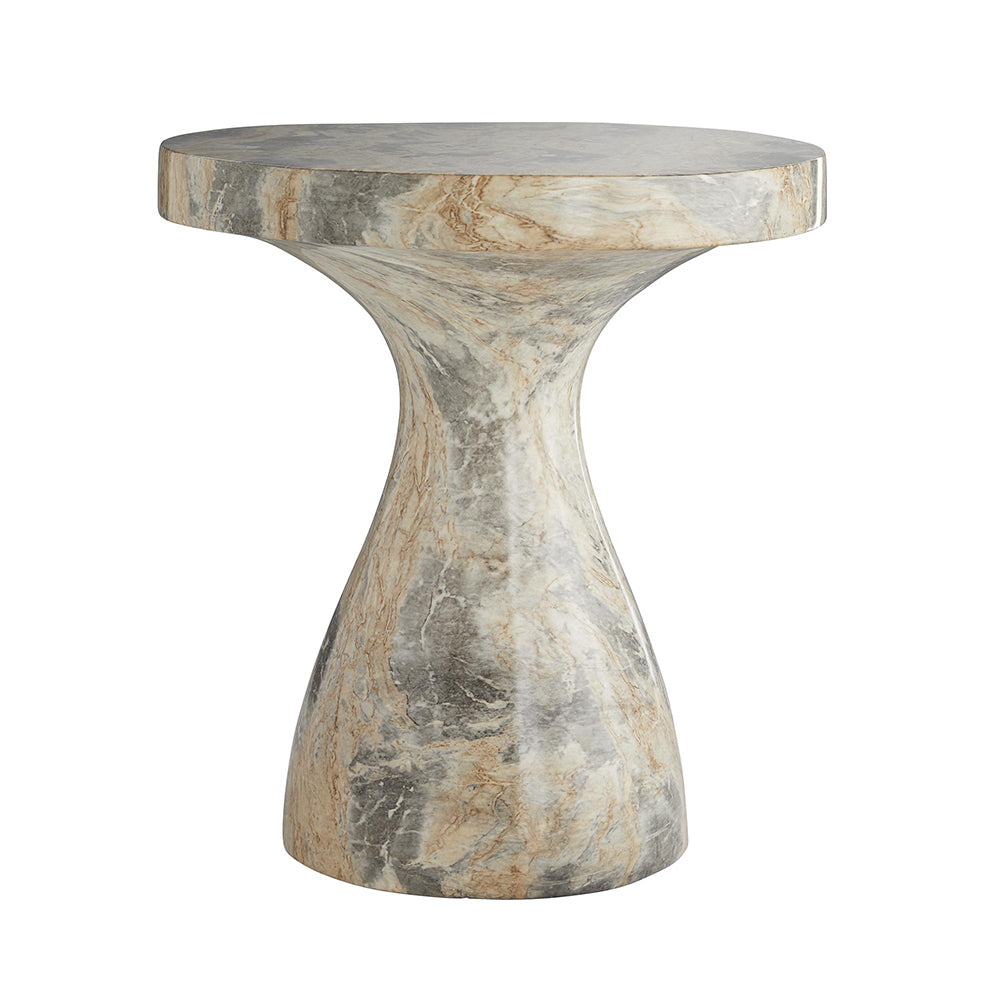 - Arteriors Serafina Faux Marble Accent Table – Large - Scenario Home