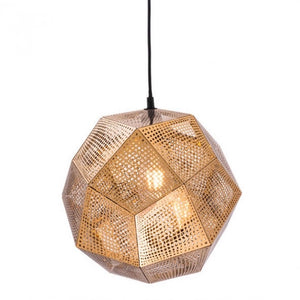 Geodestic Pendant Light - Gold
