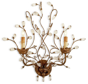 Currey and Company Crystal Bud Wall Sconce