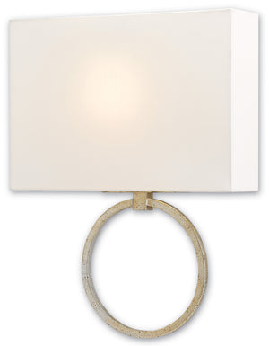 Currey and Company Porthole Silver Wall Sconce