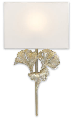 Currey and Company Gingko Silver Wall Sconce