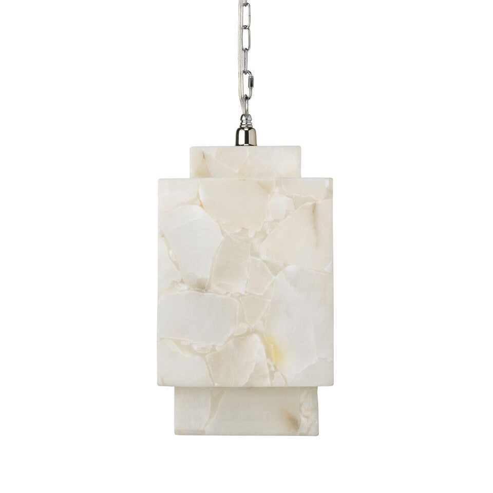 Alabaster Cube Pendant Light