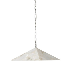 Alabaster Pyramid Pendant Light