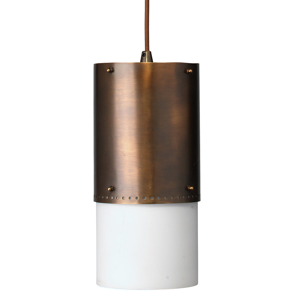 Industrial Pendant Light with Oiled Bronze Patina