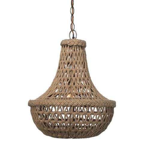Natural Jute Macrame Pendant Light