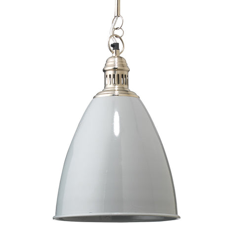 Lacquered Metal Cone Pendant – Grey