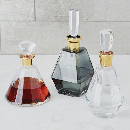Chic Glass & Gold Decanters