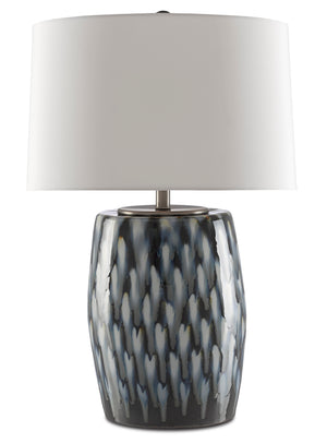 Currey and Company Milner Blue Table Lamp