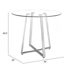 Lemon Drop Counter Table Chrome - Chrome