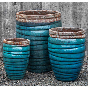 Beachcomber Aqua Terra Cotta Planters – Set of 3