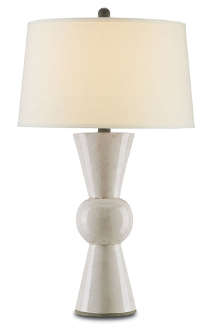 Currey and Company Upbeat White Table Lamp