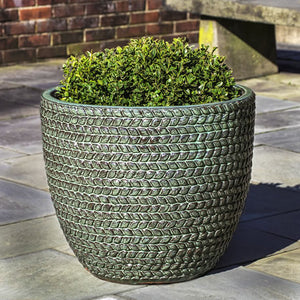 Sisal Weave Planter in Seafoam Green – Set of 3