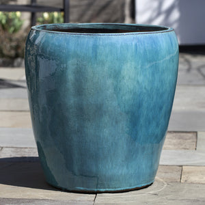 Aqua Glazed Terra Cotta Planters – Set of 3
